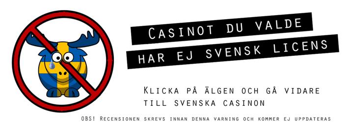 Svensk licens varning