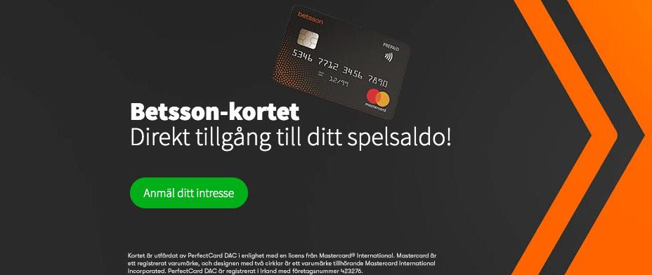 Betsson kortet betala direkt från ditt spelkonto