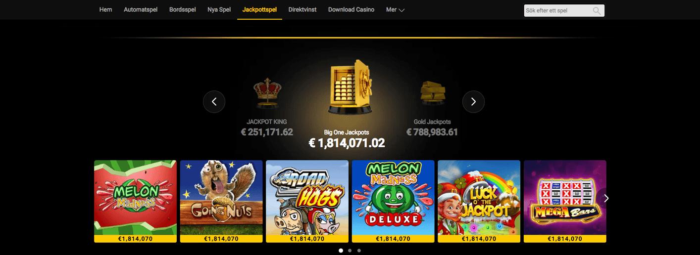 Hos Bwin casino finns ett brett utbud av jackpottspel