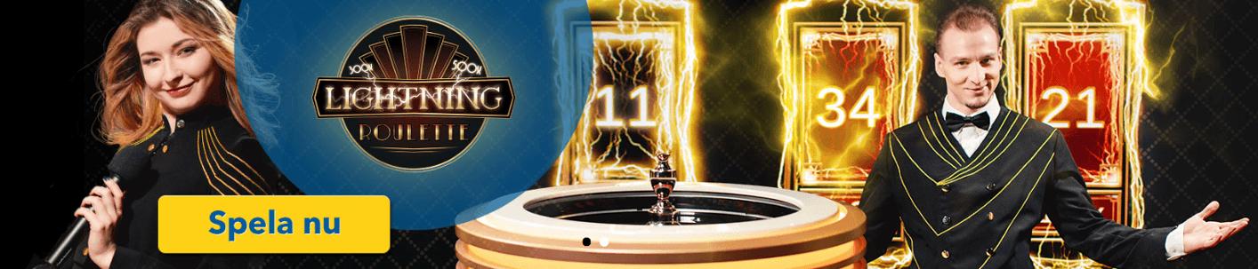 Spela lightning roulette hos Karl Casino