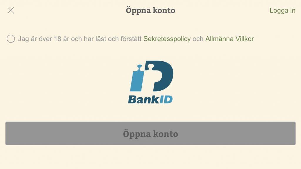 Öppna konto BankID