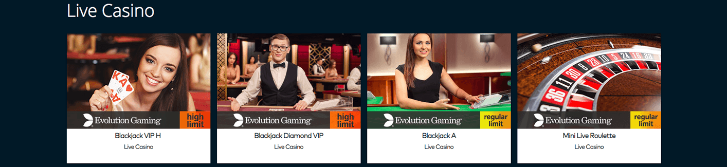 Fun casino livecasino lobby