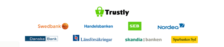 trustly sammarbetar med svenska internetbanker