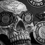 Metal Casino skull