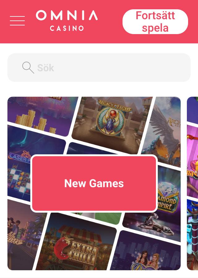 Spela i mobilen utan koto - Omnia Casino
