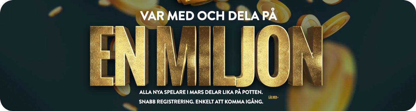 Var med och dela på en miljon kr - No Account Casino