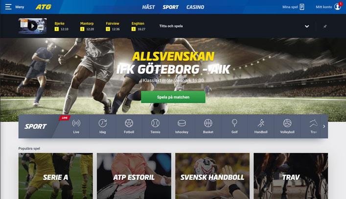 ATG sport - Odds på fotboll och sport
