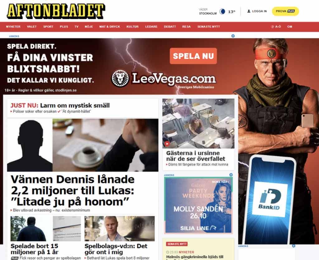 Aftonbladet casino reklam