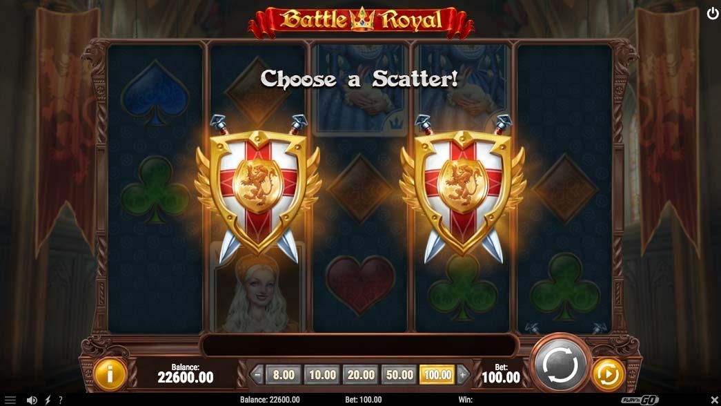 Välj din scatter på spelet Battle Royal av speltillverkaren Play'n GO