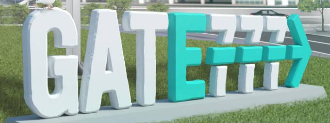 Gate777 skylt
