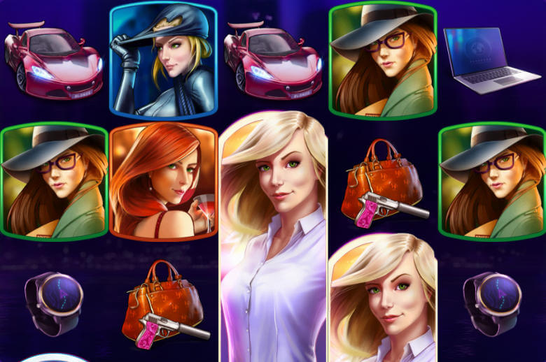 Symbolerna i Agent Jane Blonde Returns