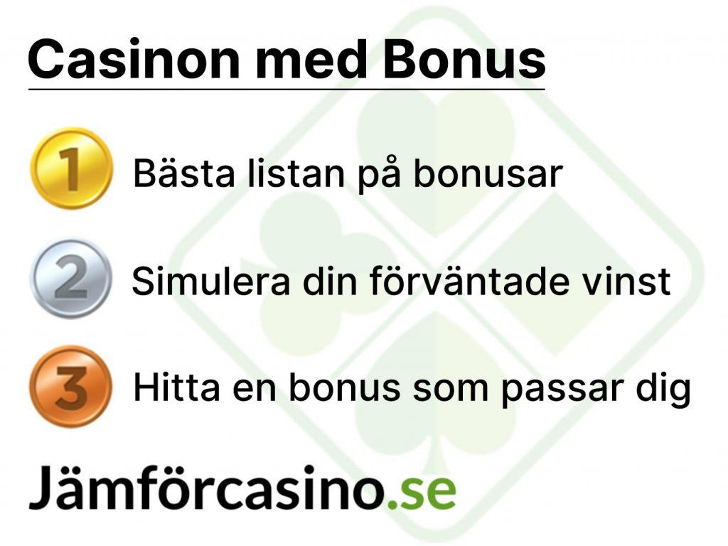 Vi kan allt om casino med bonus 2020 - jämförcasino.se