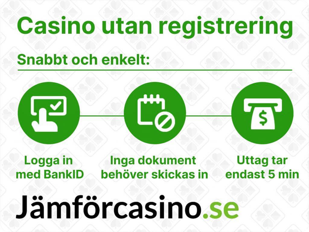 Casino utan registrering - fördelar
