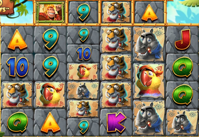 Hjulen i Return of the Kong har ett varierat antal vinstrader!