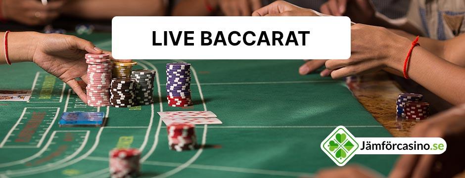 Spela baccarat live online
