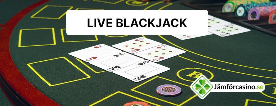 Spela blackjack live online