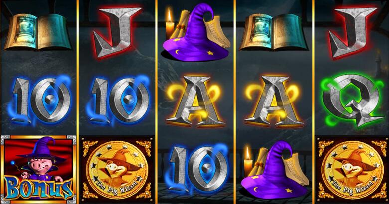 Några av symbolerna i The Pig Wizard Megaways.