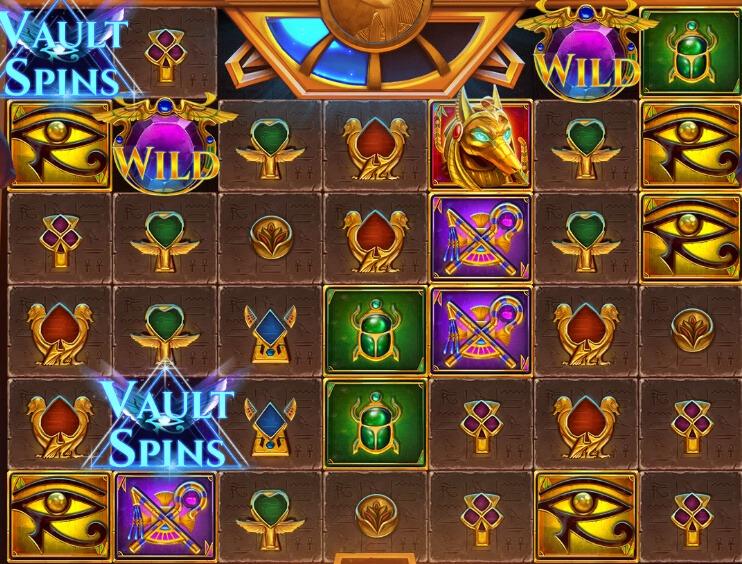 Vault of Anubis symboler
